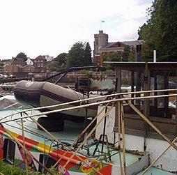 Looking towards St Mary's Church from Eel Pie Island
