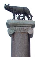 the she-wolf, the symbol of Rome, with Romulus & Remus